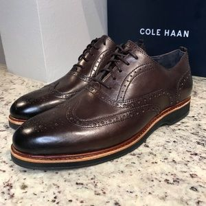 🆕 BRAND NEW Cole Haan Morris Wingtip Oxford Shoes